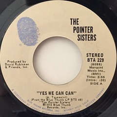 THE POINTER SISTERS:YES WE CAN CAN(LABEL SIDE-A)
