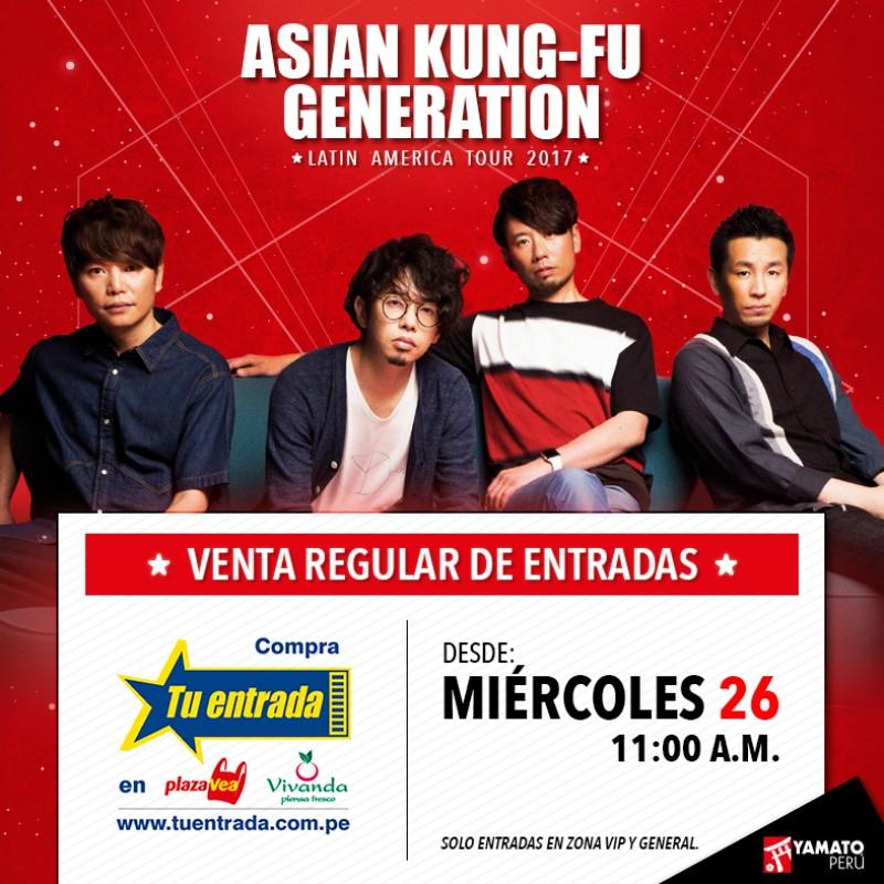 Asian Kung-Fu Generation en Lima | Guía para comprar entradas