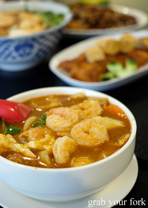 Assam seafood from Penang Cuisine in Epping Sydney