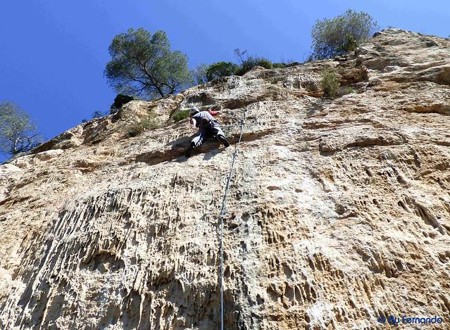 Juan Carlos Cervino - No Es Grau Tot El Que Pica, 7a_a+ -04- Les Casetes d'en Muntaner, Sector Casetes Oest (09-04-2017)