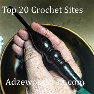 Top 20 Crochet Sites, Ebony Wood Crochet Hook,