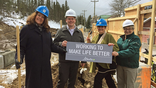 Breaking ground on Deer Lake affordable housing complex in Banff