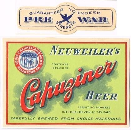 Neuweilers--Capuziner-Beer-Labels-Louis-F-Neuweilers-Sons