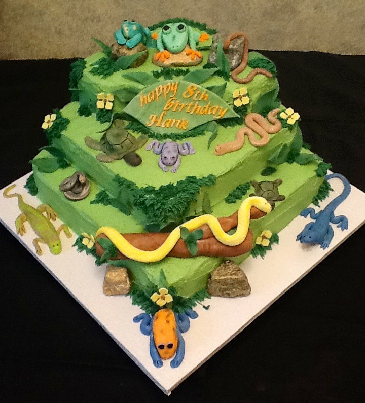 Reptile Theamed Cake