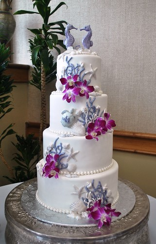 wedding cakes sarasota purple amp white theme wedding cake lido resort sa 25434