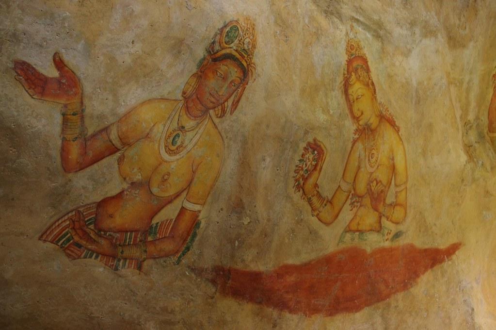 Apsara Paintings In White