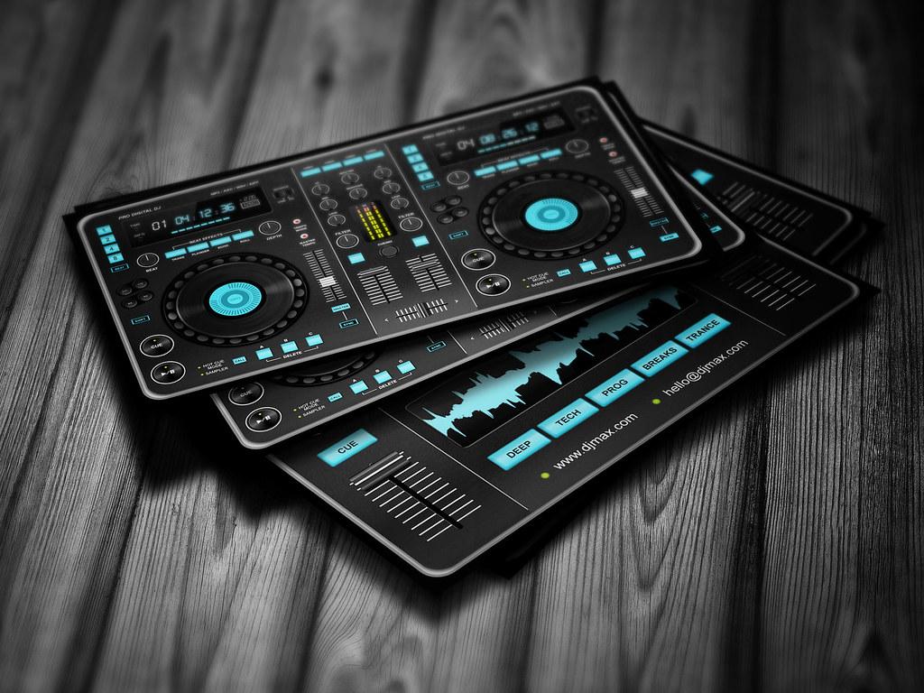 Digital DJ Business Card template | Digital DJ Business Card… | Flickr