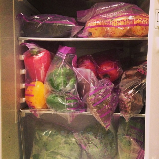 My Fridge Is Literally Bulging With Fruits And Vegetables