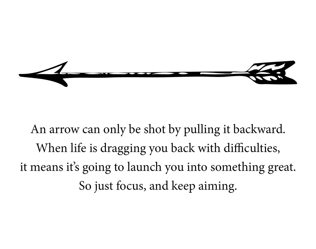 Arrow Quote Poster Design | An arrow can only be shot by ...