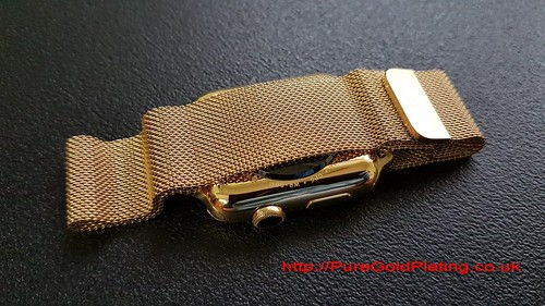 Apple Series 2 Gold Plated Bracelet View | by PureGoldPlating