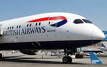 British Airways B787-9 gate SCL (RD)