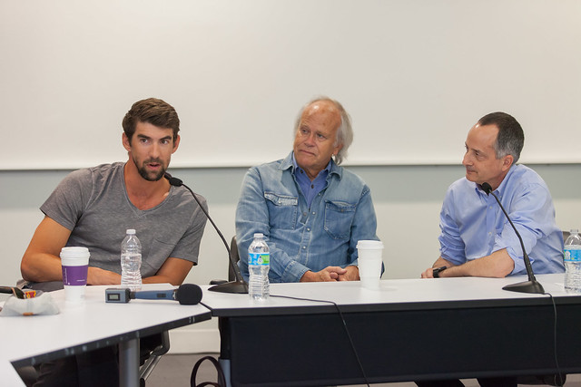 NBC's Dick Ebersol and G.O.A.T. Michael Phelps visit Annenberg