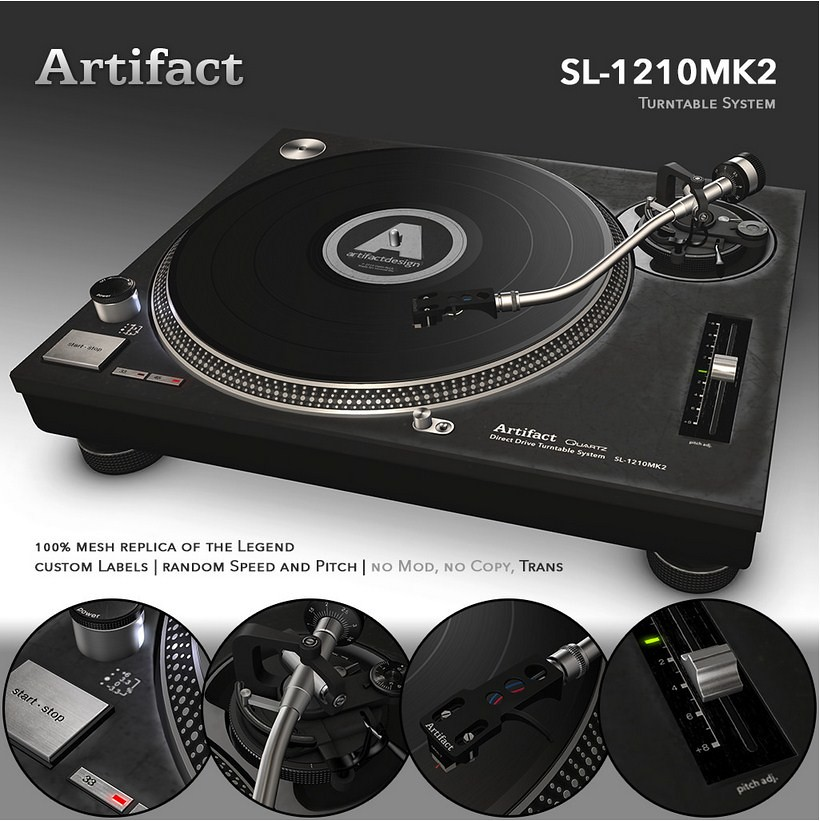 Artifact SL-1210MK2 Turntable System