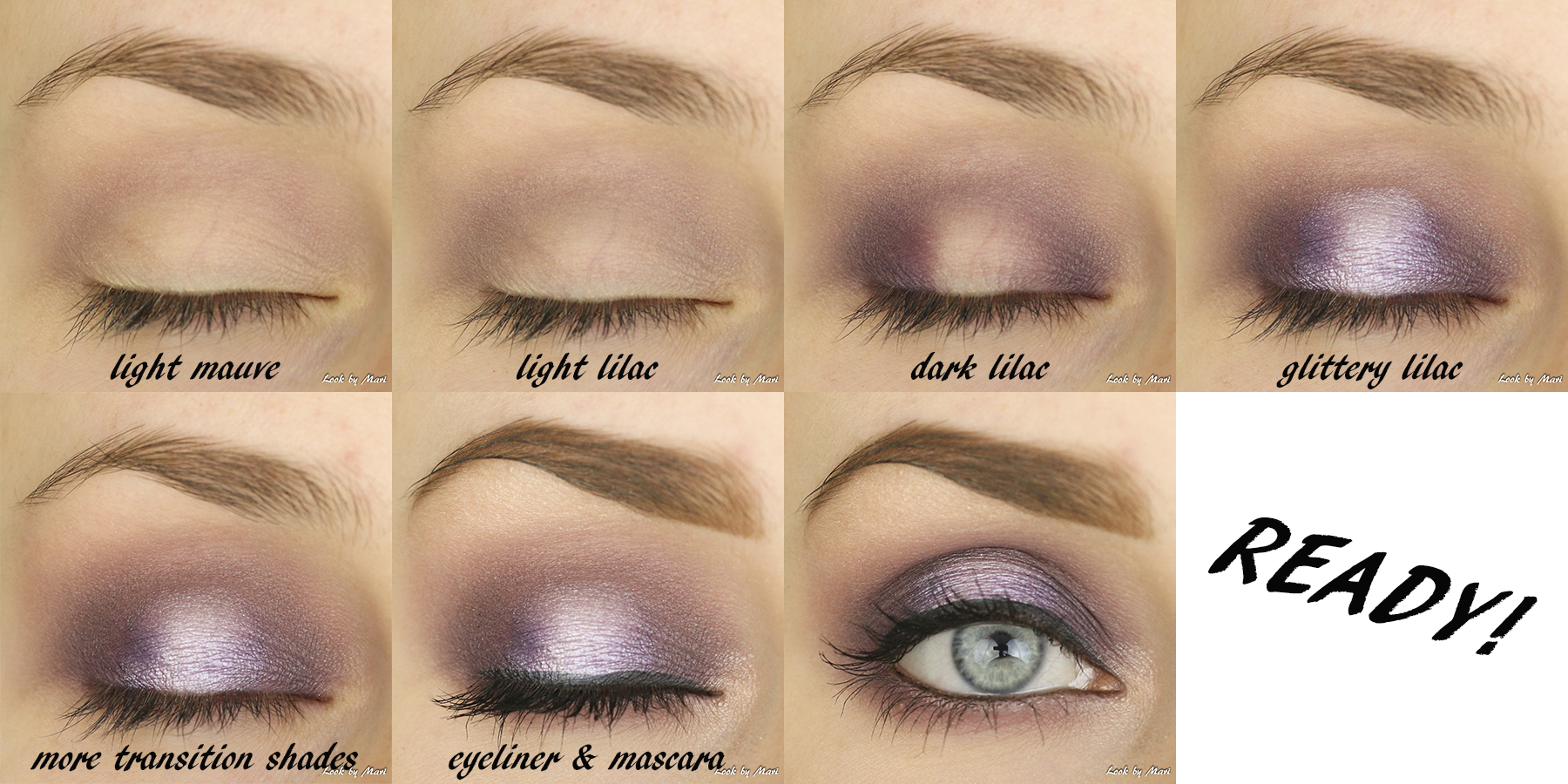 5 lilac violet smoky eye halo eye dark dramatic eye makeup ideas tutorial