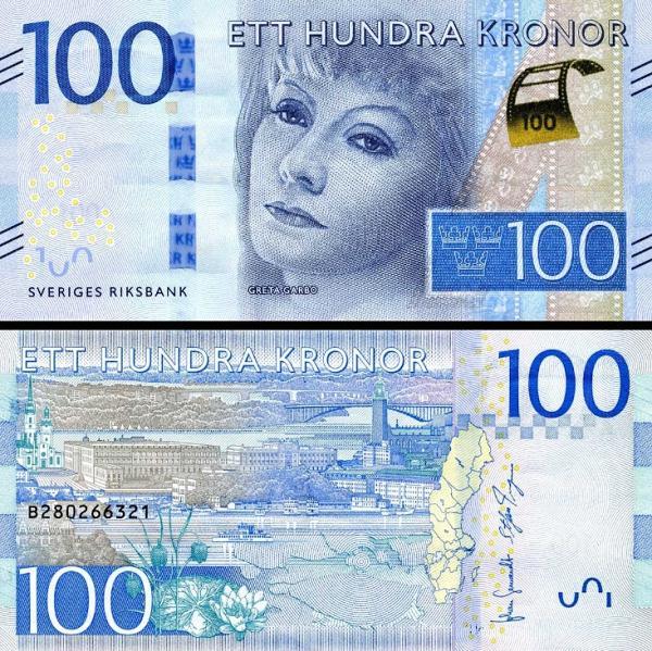 100 Korún Švédsko 2015, P71
