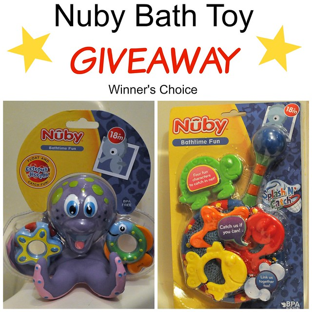 Nuby Bath Toy Giveaway - Winner's Choice