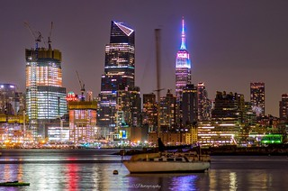 Empire State Building glow recently in pastel hues during EasterWeekend. New York City. | by mitzgami