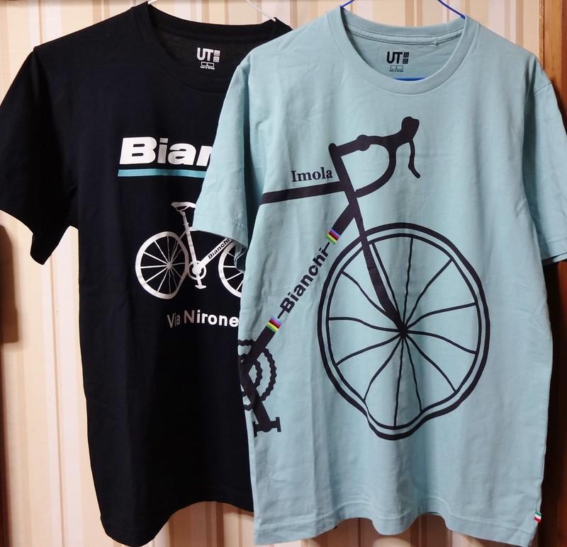 ユニクロ ビアンキTシャツ #1