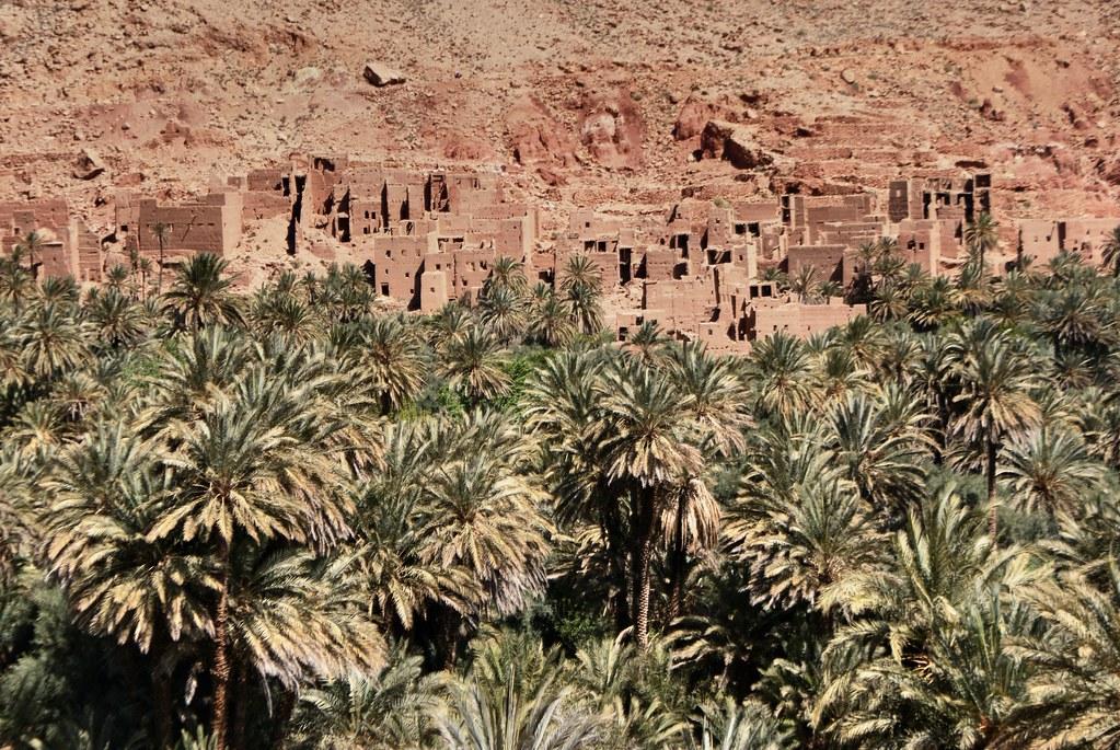 Dans la vallée de Tinghir au Maroc