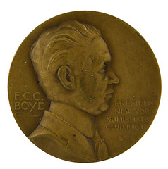 K-F lot 65 New York Numismatic Club medal Boyd medal