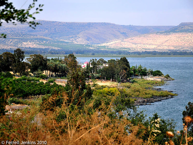 Capernaum from the hill above the Sea of Galilee