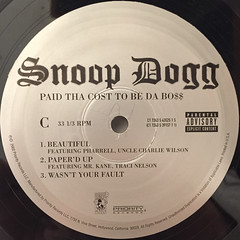SNOOP DOGG:PUT THA COST TO BE DA BO$$(LABEL SIDE-C)