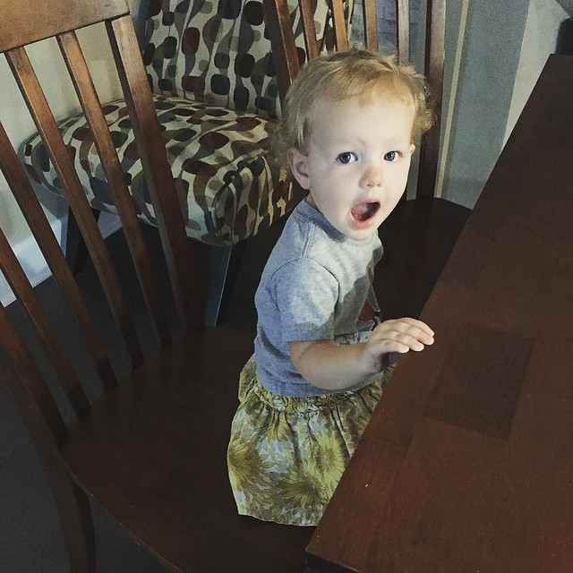 Is there some kind of support group for moms of children who insist on terrifying yet delighting their parents? Remy climbs EVERYTHING. Chairs, couches, stairs, me. The higher and less stable, the better. My heart skips a beat at least 10 times a day and