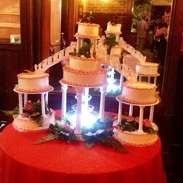Quinceanera Cakes With Water Fountain