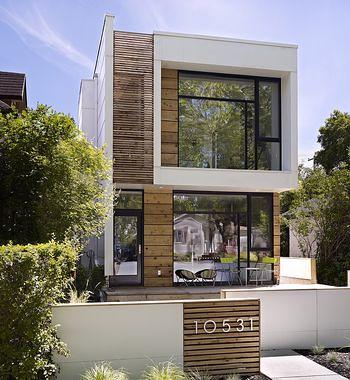 Fachada de casa moderna de dos pisos fachada de casa - Fachadas de piedra modernas ...