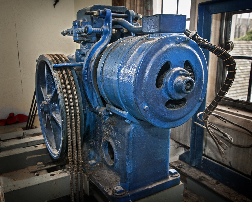 Old Elevator Motor The Original Motor That Powered One