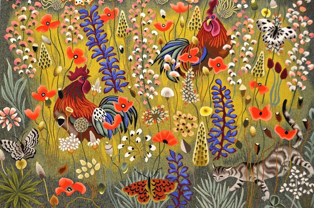 Tapisserie de dom robert une de mai carton de 1974 d - Galerie nationale de la tapisserie beauvais ...