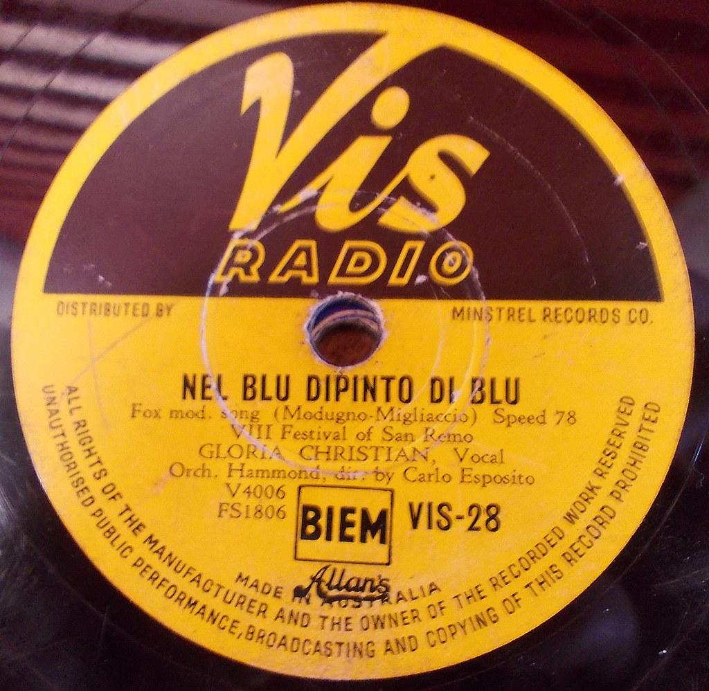 Nel Blu Dipinto Di 78rpm Vinyl Record