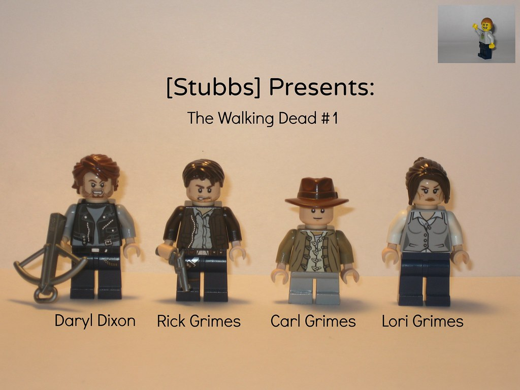 Walking dead lego daryl the walking -  Lego The Walking Dead Figures 1 By Stubbs