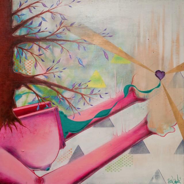 """Revealing Her Sacred Heart"" by Cedric Umoja"