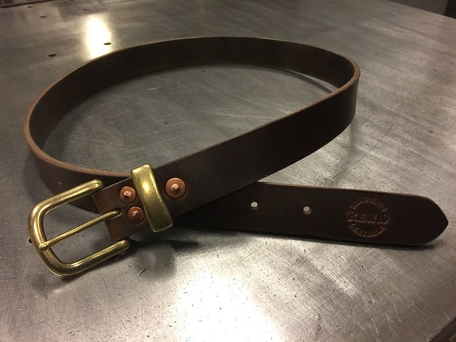 RIVETED BELT  HORWEEN CHROMEXCEL