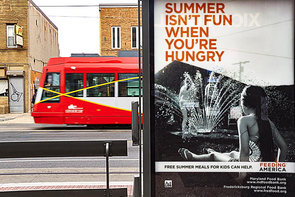 SUMMER ISN'T FUN WHEN YOU'RE HUNGRY sign on H Street-Washington