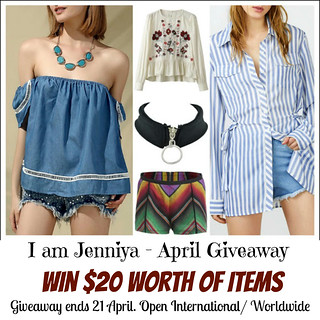 I AM JENNIYA: APRIL GIVEAWAY
