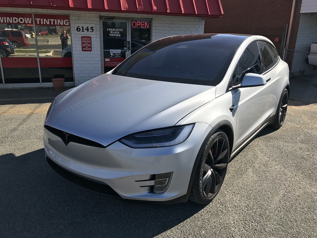 2017 Tesla Model X P100d With 3m 1080 Satin Black Wrap And Flickr