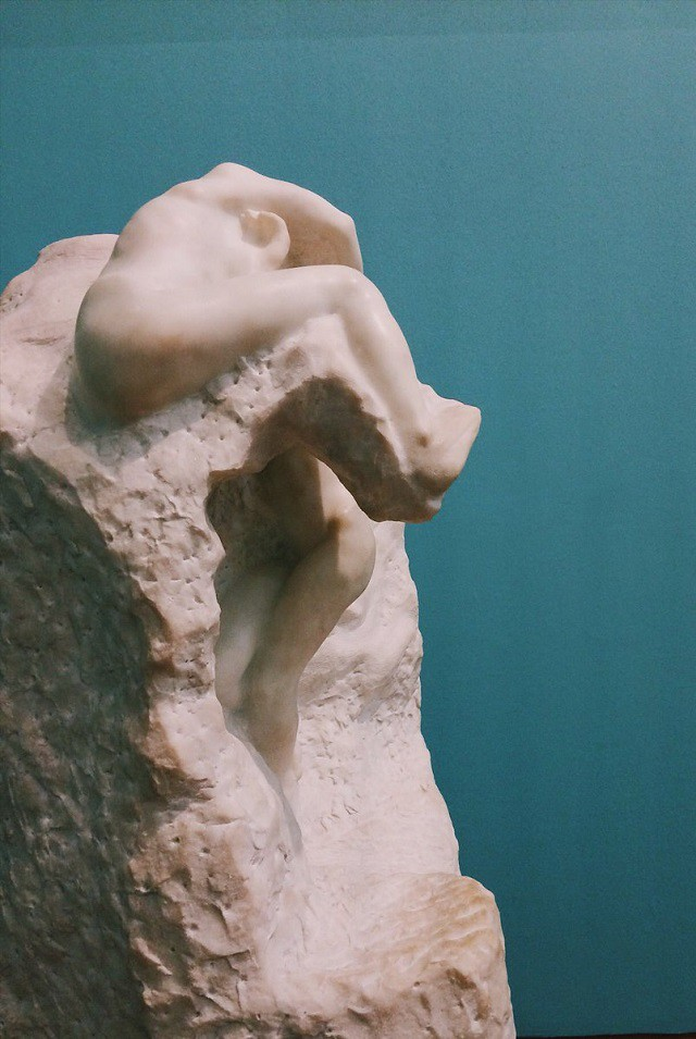 rodin marble sculpture in cardiff museum