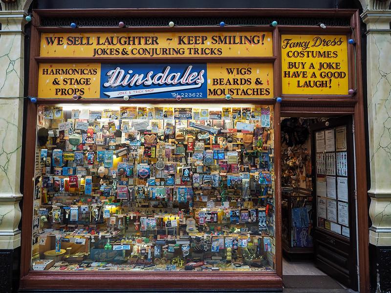 Joke shop in Hull, England
