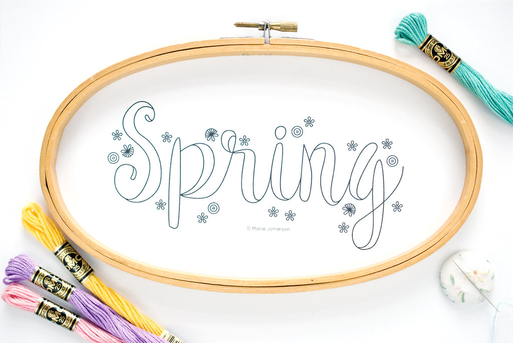 Spring Embroidery Pattern for The Spruce