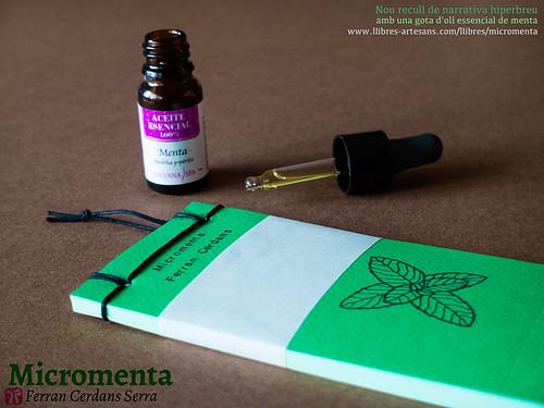 Micromenta, de Ferran Cerdans Serra, amb una gota d'oli essencial