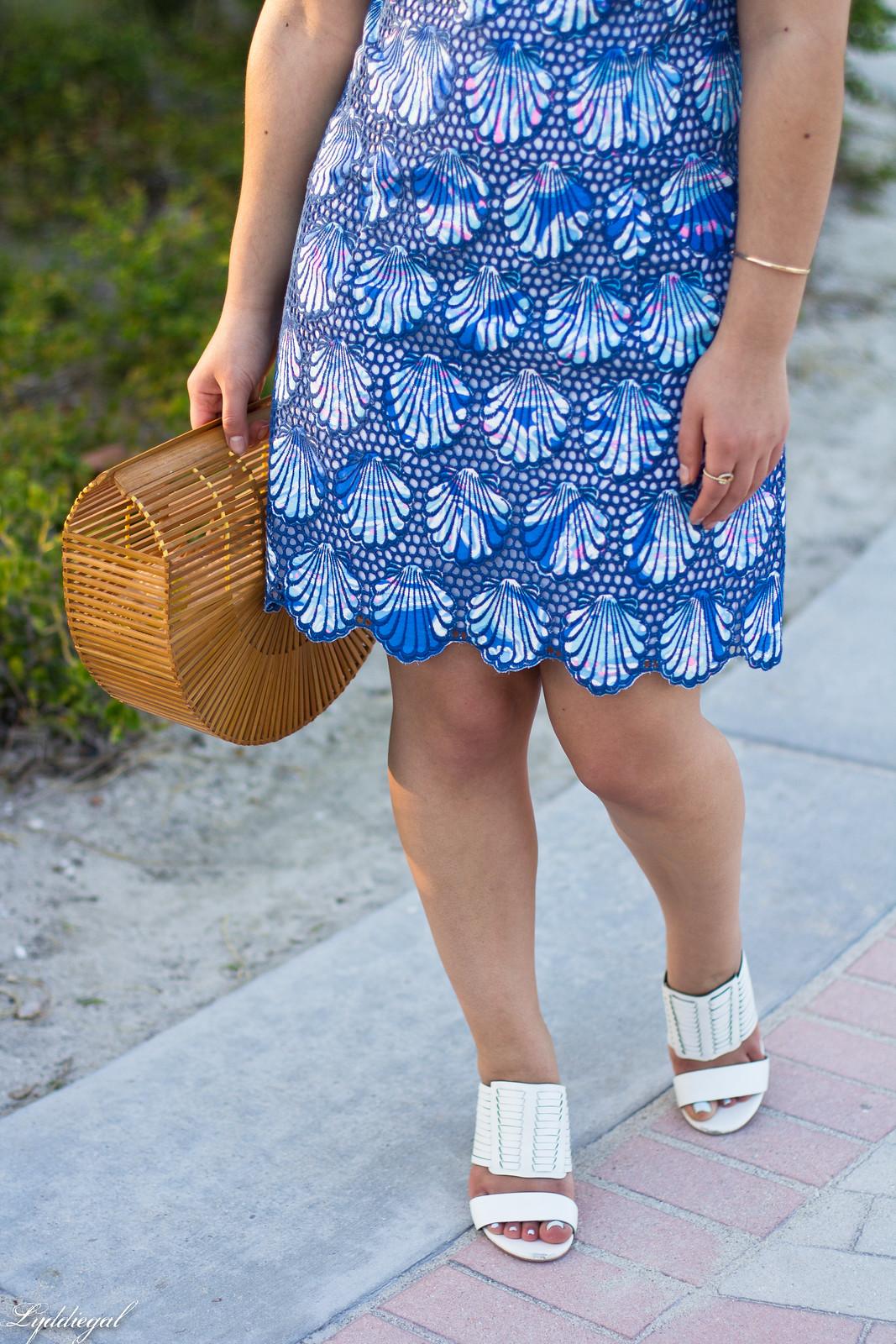 Lilly Pulitzer eyelet lace shell dress, bamboo bag, mules-4.jpg