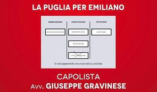 Per votare Gravinese, barrare solo su 'La Puglia per Emiliano'