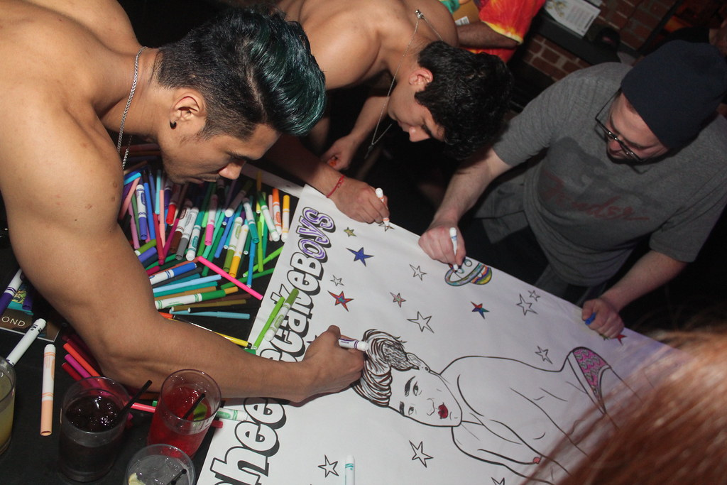 Cheesecake Boys Coloring Party in West Hollywood, April 22, 2017 at Revolver Nightclub