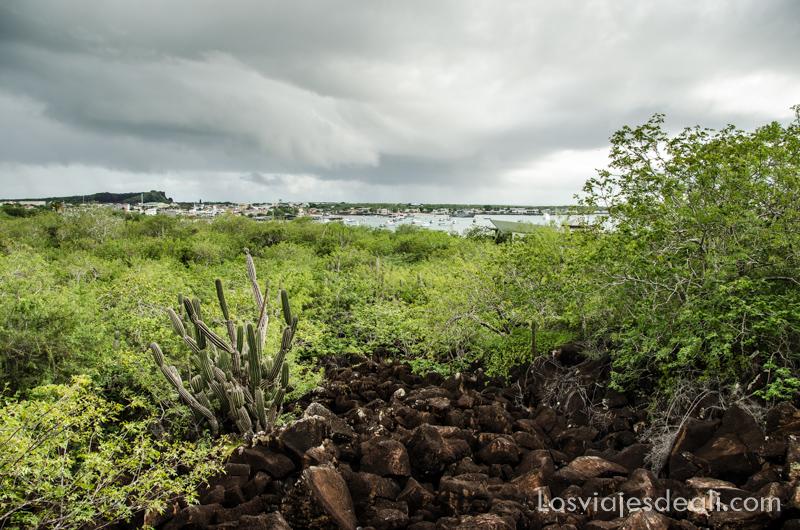 vistas desde el cerro Tijeretas en isla San Cristóbal