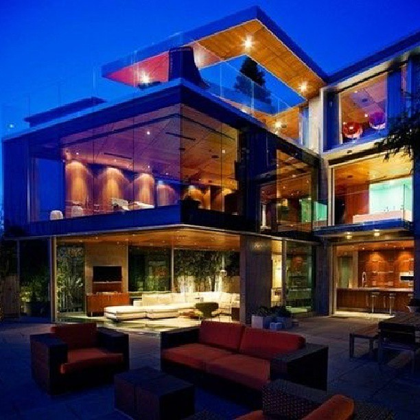 Glass house mansion estate windex