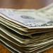 Closeup stack of $50 bills
