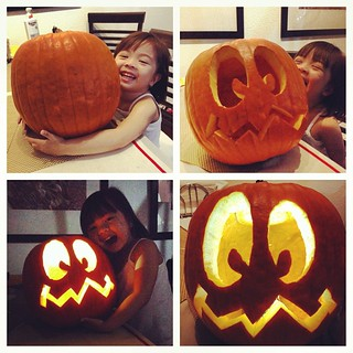 Happy's first Jack O'lantern was a successful joint project of me and @breehive... Pahirap ng pahirap request ha!