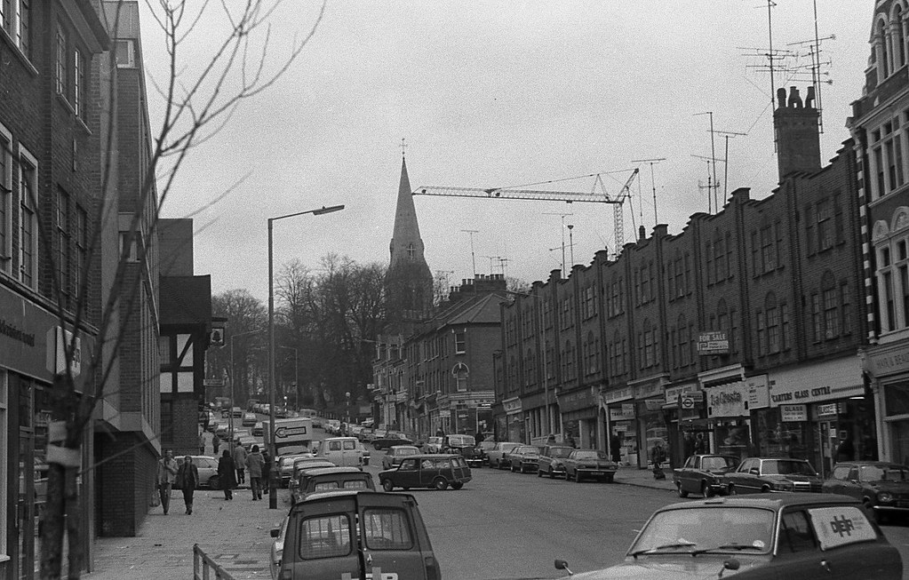 06 - 1970s Crouch End Broadway in North London | Looking ... Hornsey